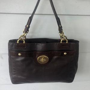 Coach Penelop F16531 Brown Leather Bag Satchel